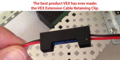 Extension cable retaining clip
